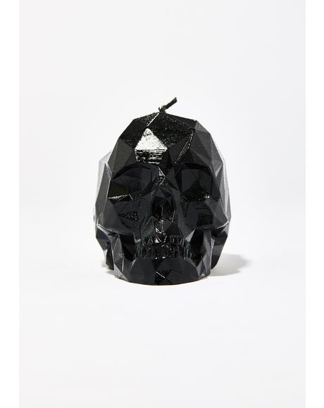 Monochrome Hellfire Skull Candle