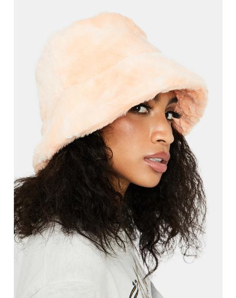 Peach Cuddle Up Buttercup Bucket Hat