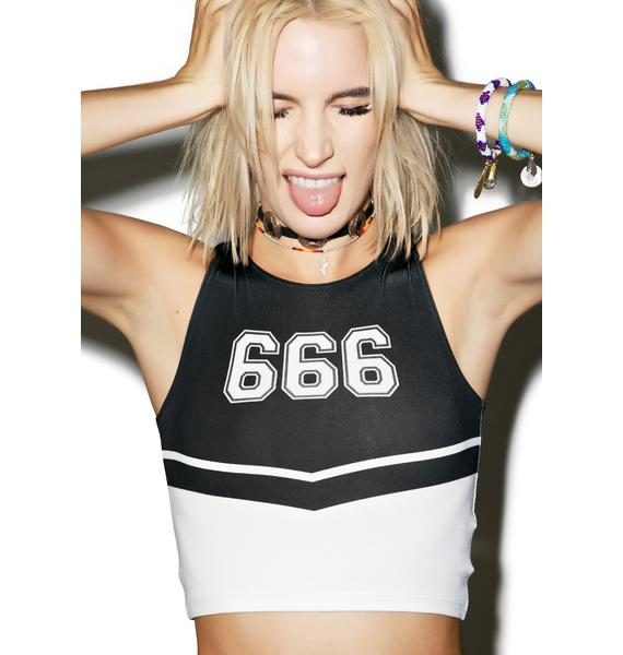 O Mighty Team 666 Crop Tank Top