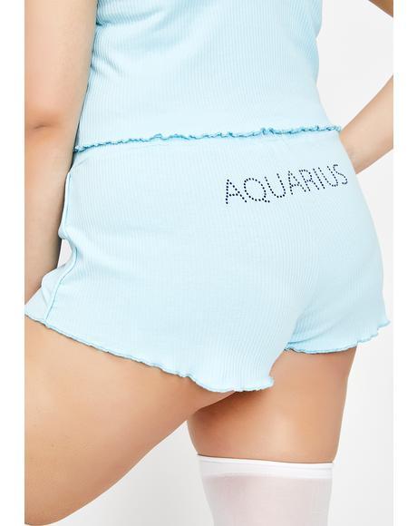 Actually Aquarius AF PJ Shorts