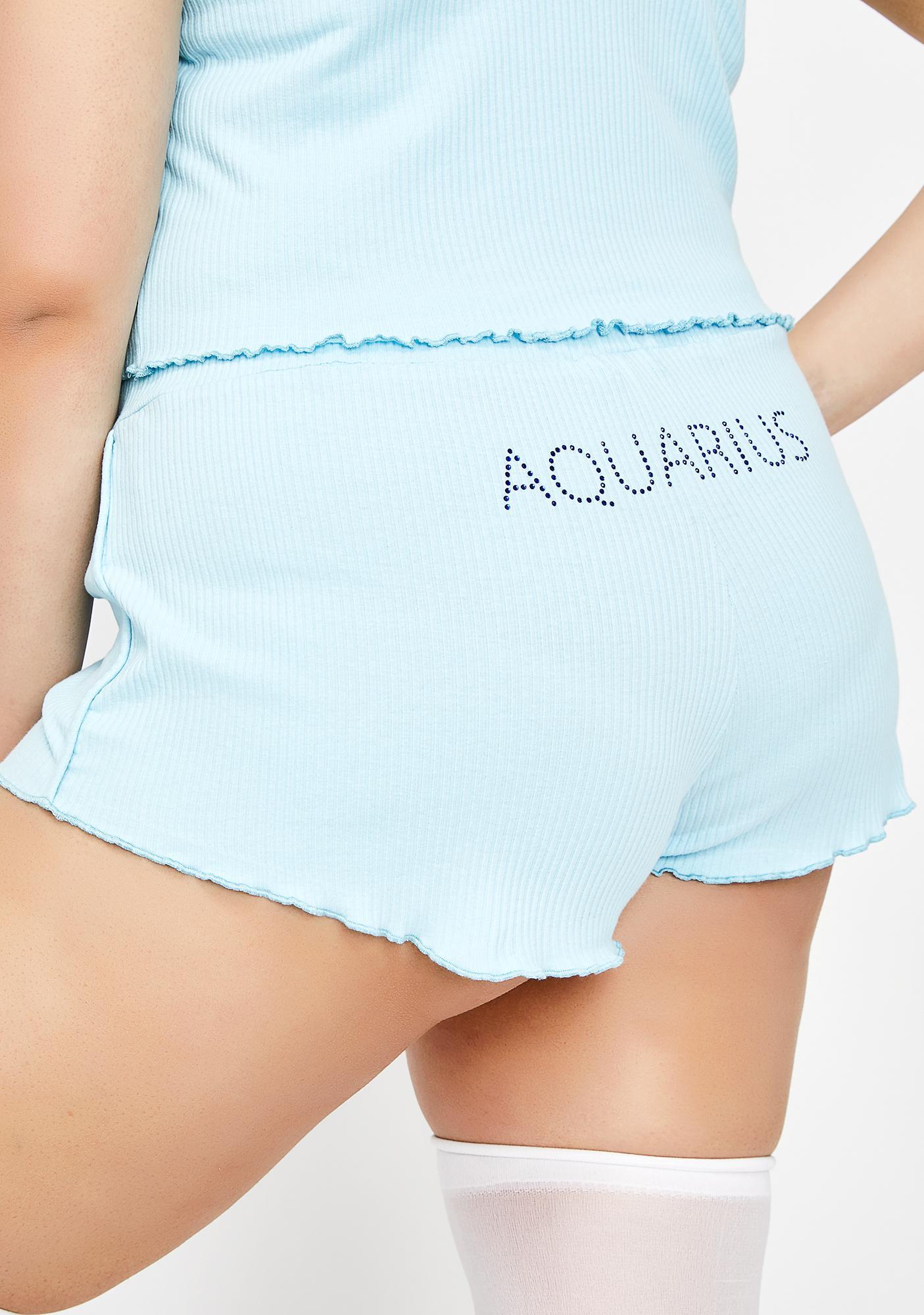 HOROSCOPEZ Actually Aquarius AF PJ Shorts
