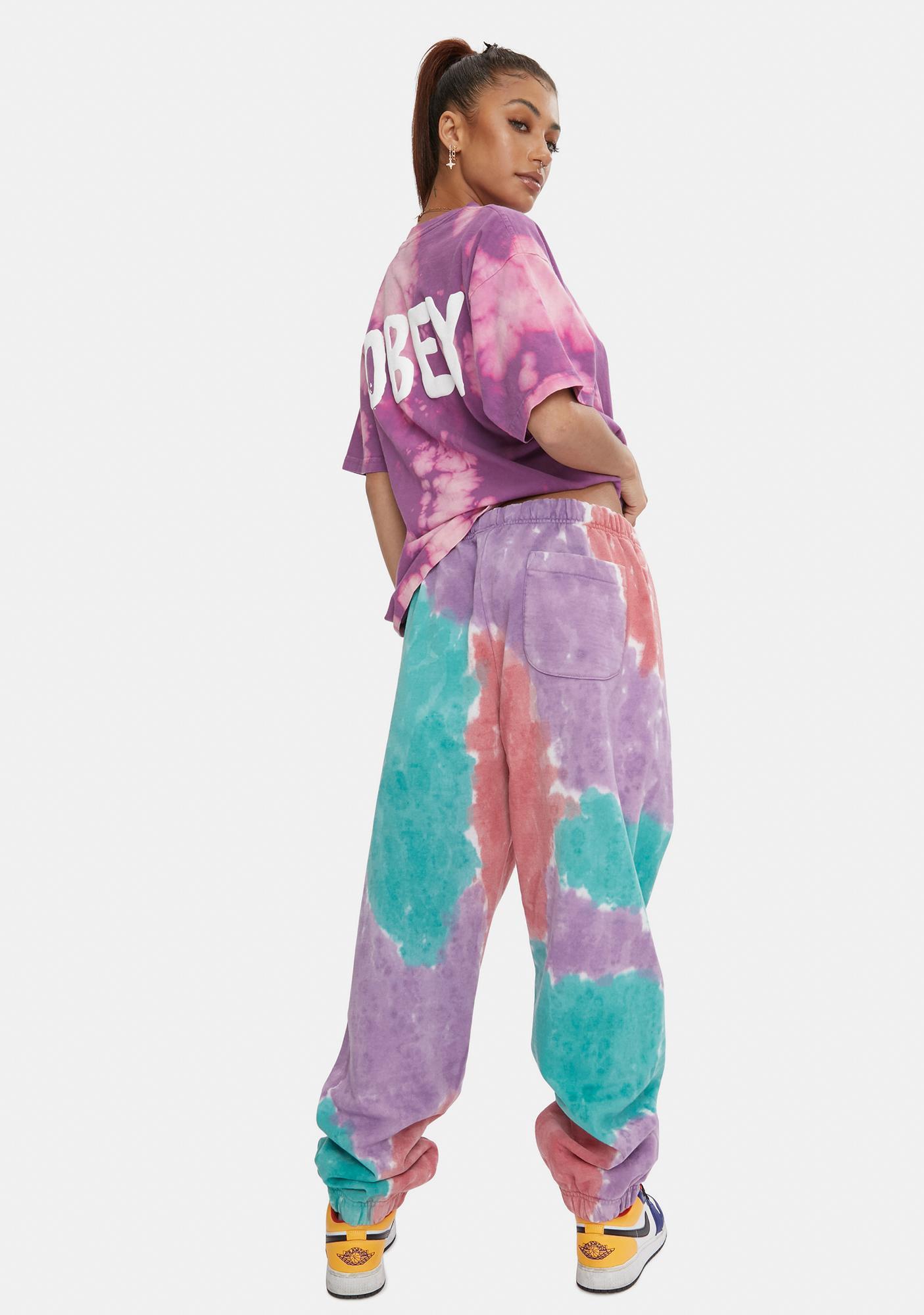 Obey Purple Nitro Sustainable Tie Dye Sweatpants
