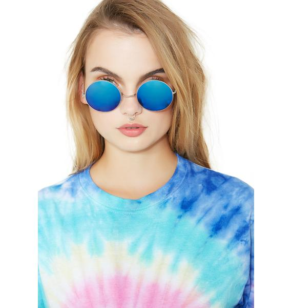 Petals and Peacocks Blue Mathilda Sunglasses