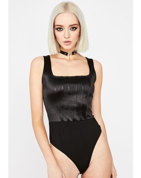 Woke Up Blessed Satin Bodysuit