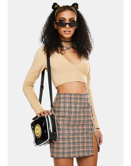Country Check Sheny Skirt