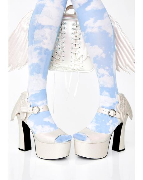 Angel On Earth Glitter Heels