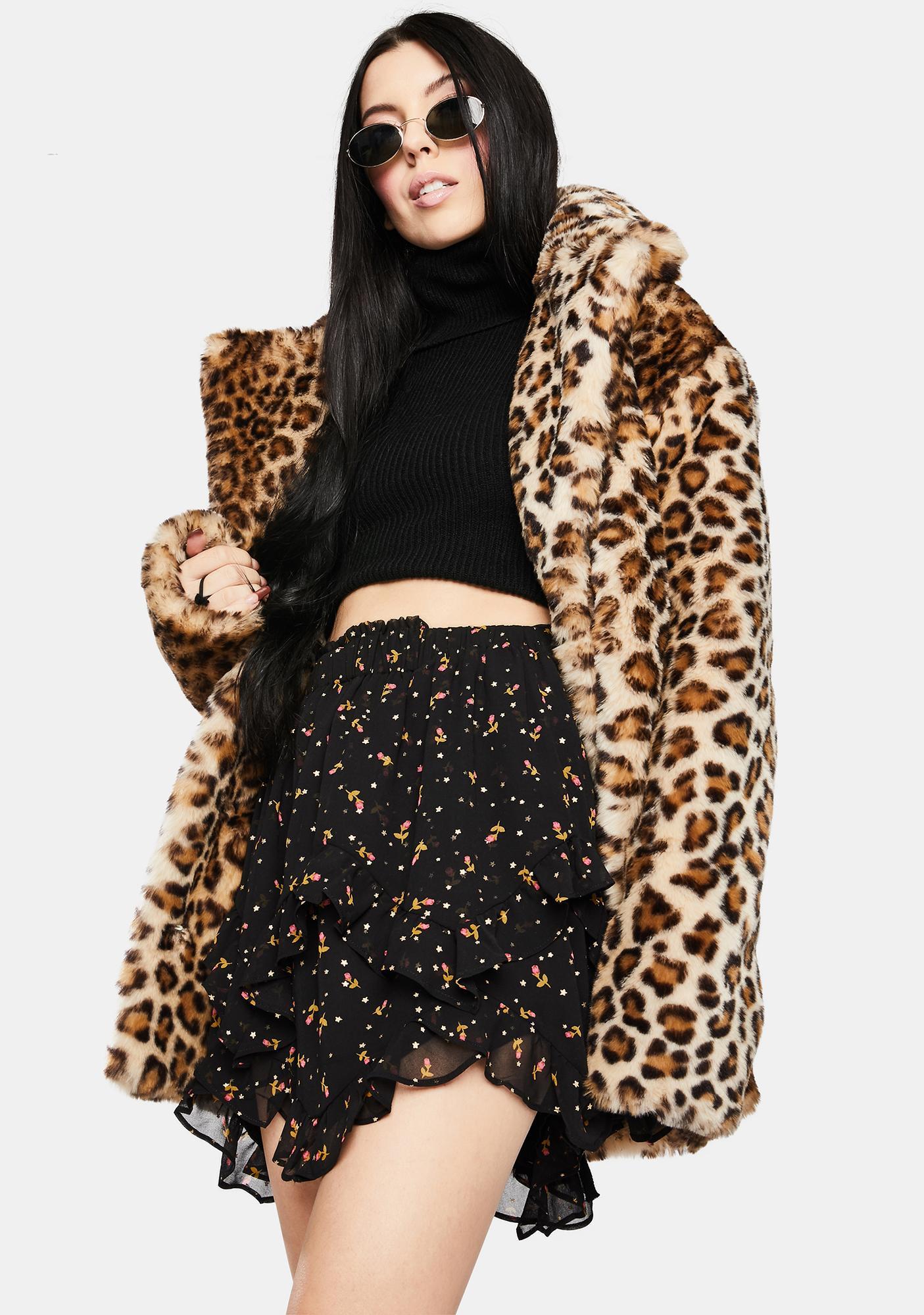 For Love & Lemons Willow Handkerchief Mini Skirt