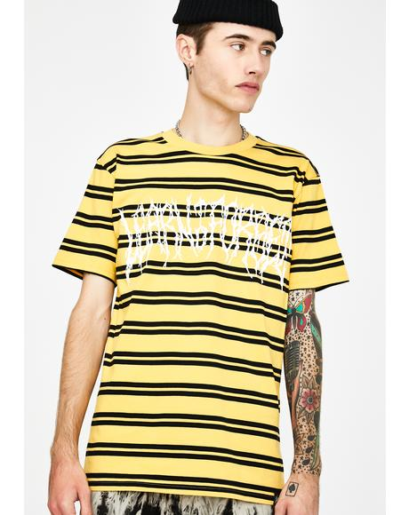 Death Metal Striped Graphic Tee