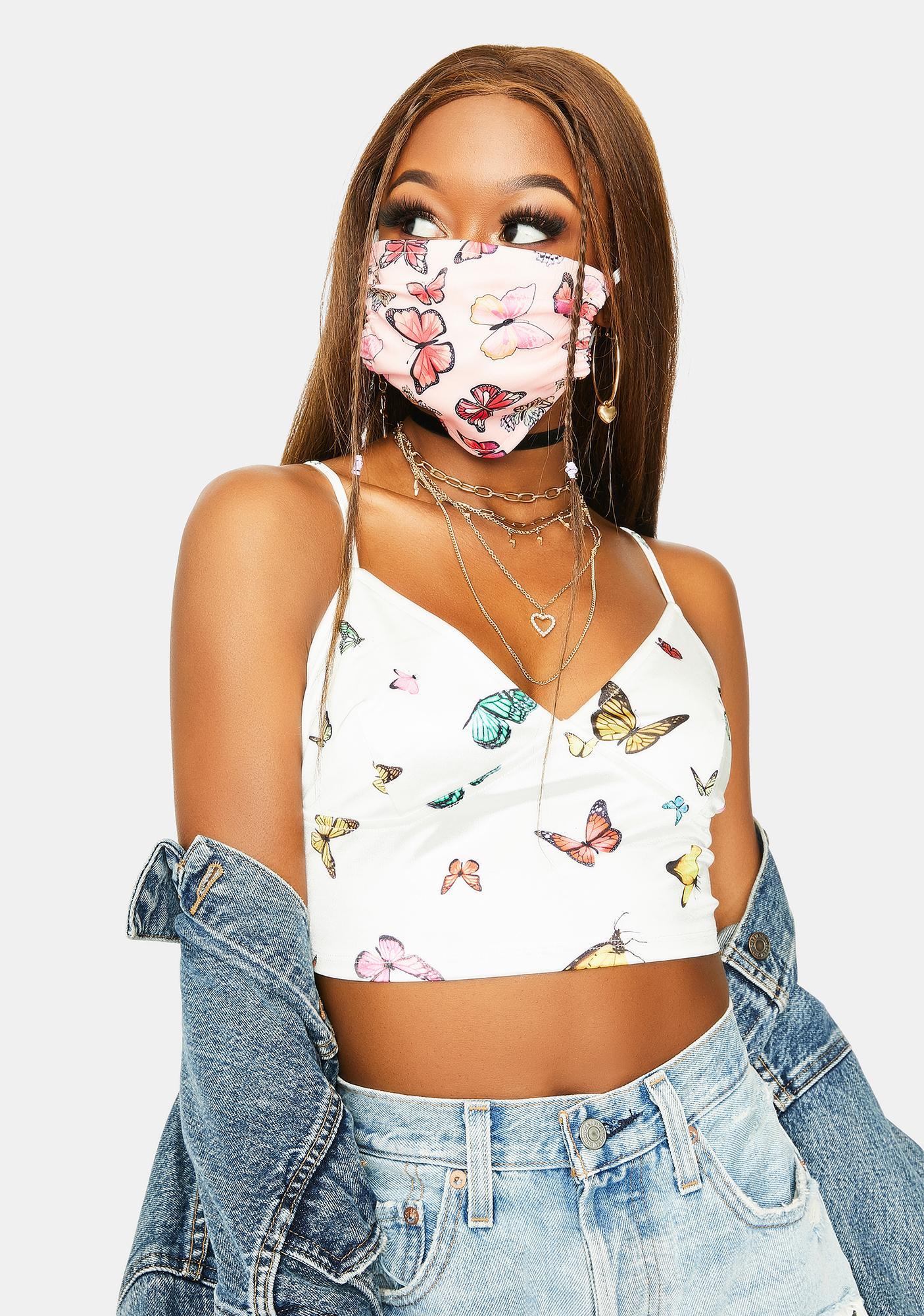 Soft Fluttering Wings Face Mask