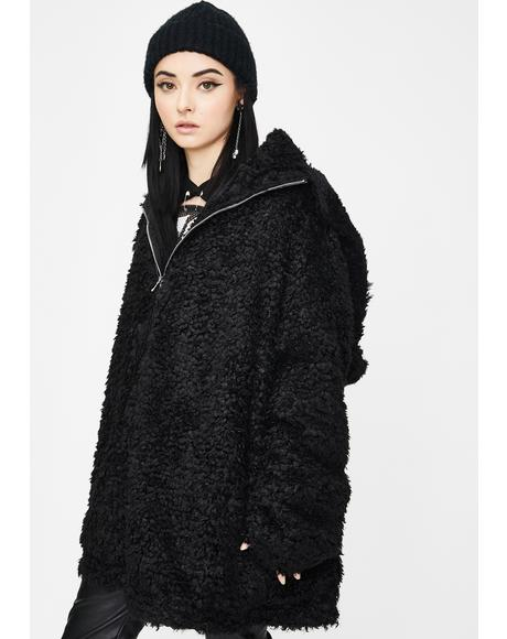 Snug Hug Hooded Zip-Up Fuzzy Jacket