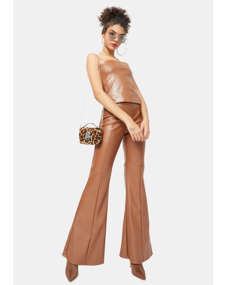 Camel Wild For The Night Vegan Leather Set
