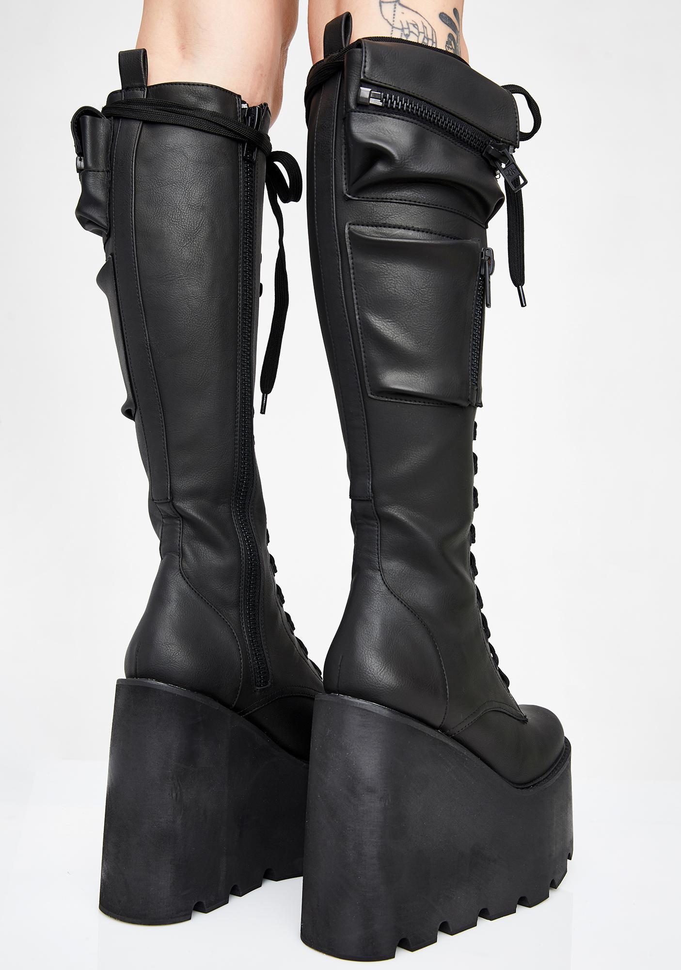 Current Mood Obsidian Pocket Platform Boots