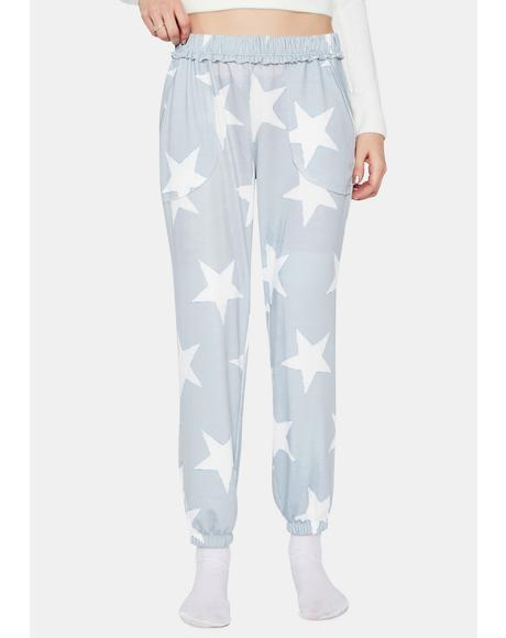 Kiss Goodnight Star Print Sweatpants