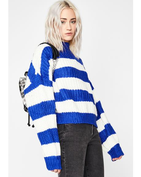 Growing Tired Striped Sweater