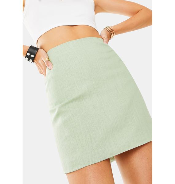 Glamorous Sage Mini Skirt