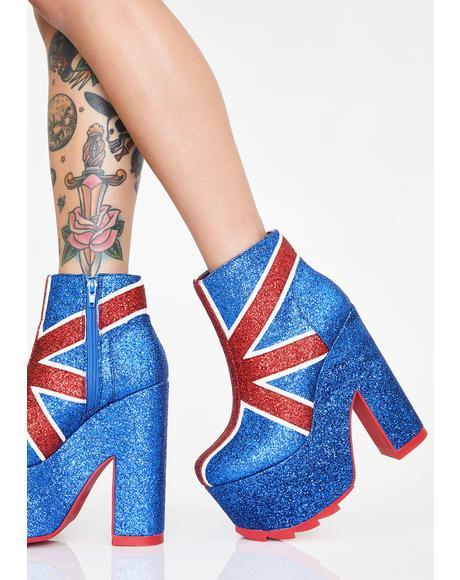 Nightmare Union Jack Platform Boots