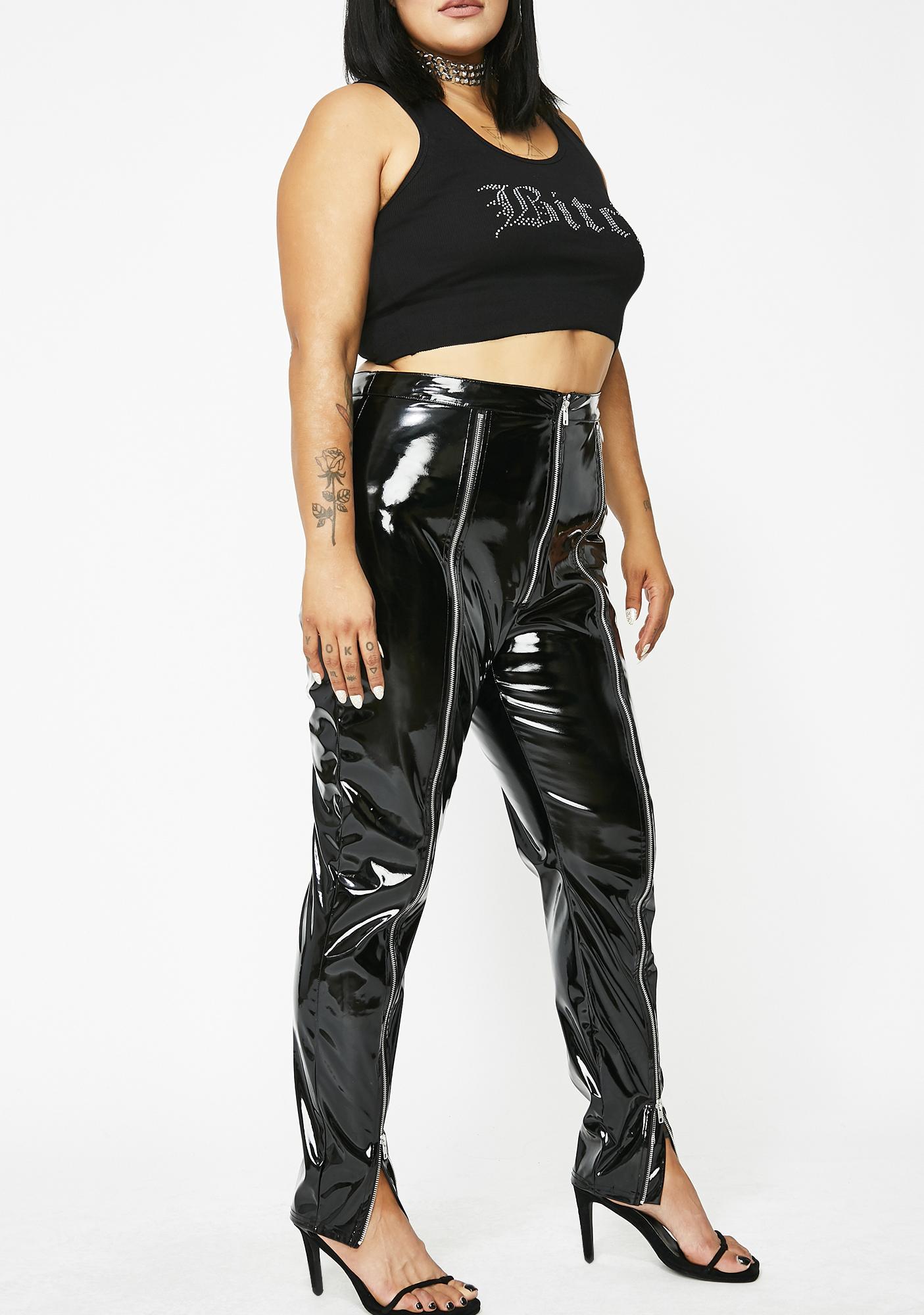 Poster Grl Haute Poppin' Tags PVC Leggings