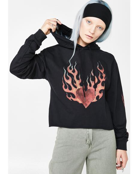 Occult Cropped Hoodie