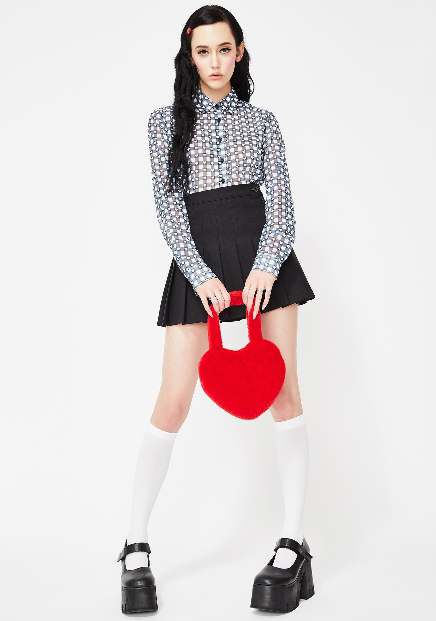 Lazy Oaf Gingham Love Button Up Shirt
