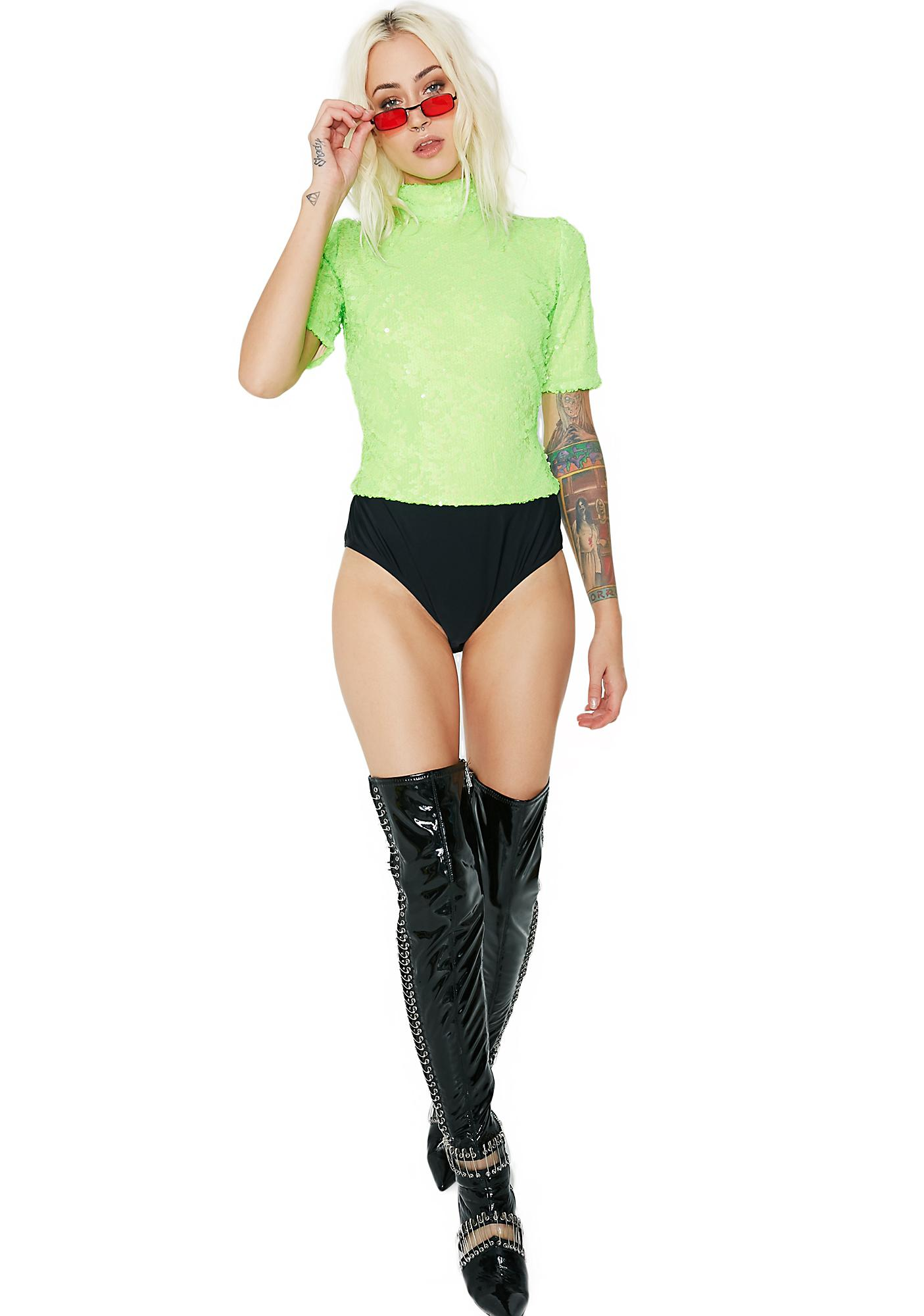 Jaded London Sequin Bodysuit