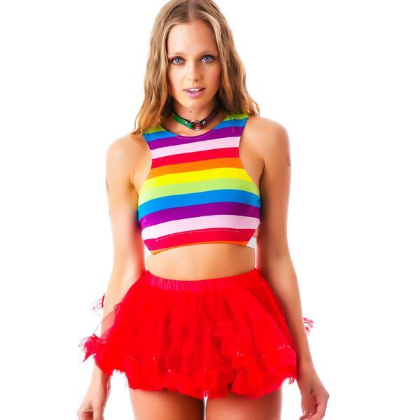Lip Service Ruffle Pride Petticoat Skirt