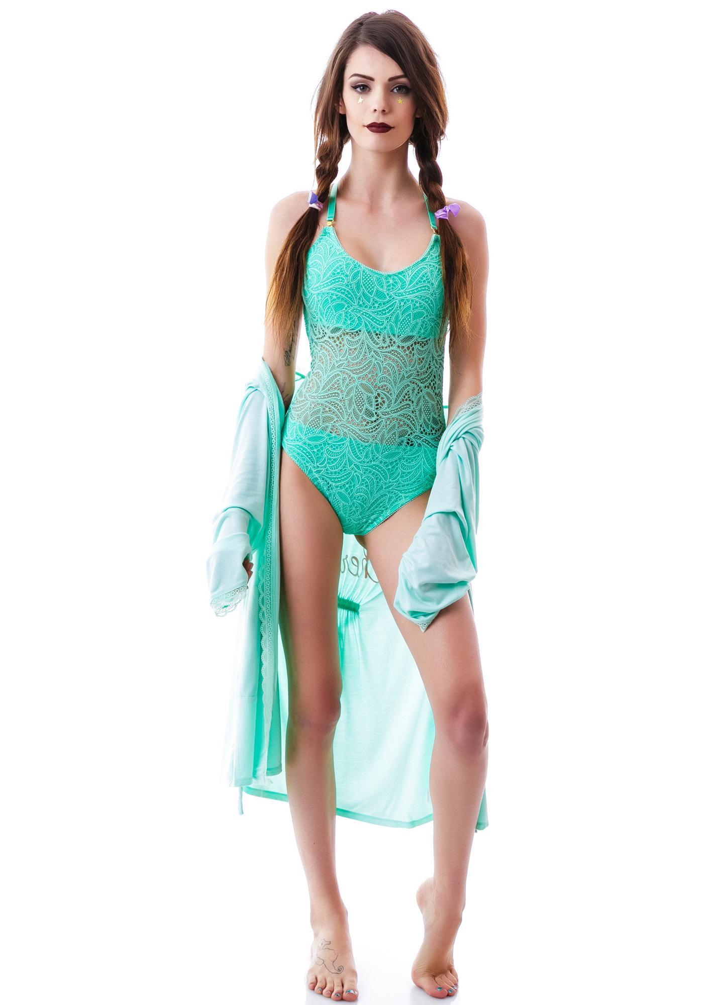 For Love & Lemons Basically Backless Lace Bodysuit
