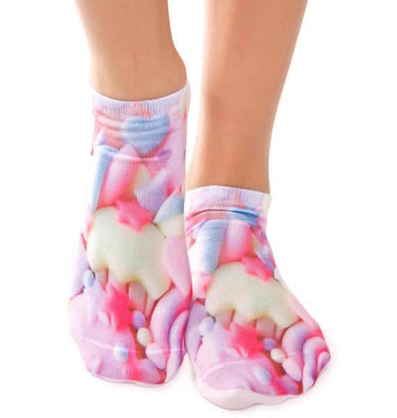 Pastel Princess Ankle Socks