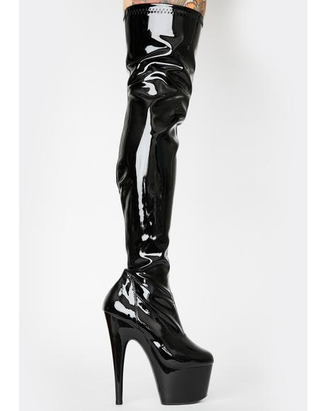 Midnight Club Strut Thigh High Boots