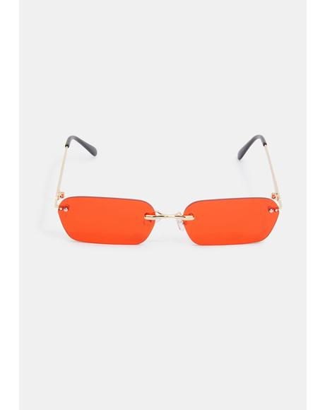 Fire Godless Gaze Frameless Sunglasses