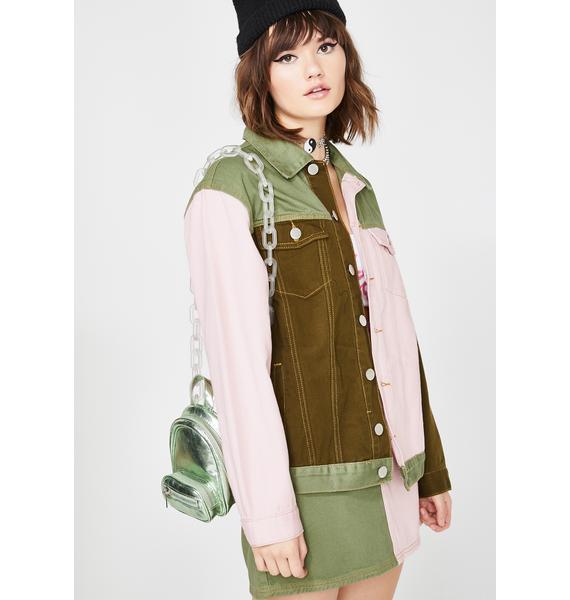Glamorous Army Chic Denim Jacket