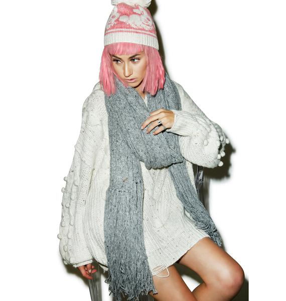 Wildfox Couture Blanket At Winter Brunch Scarf