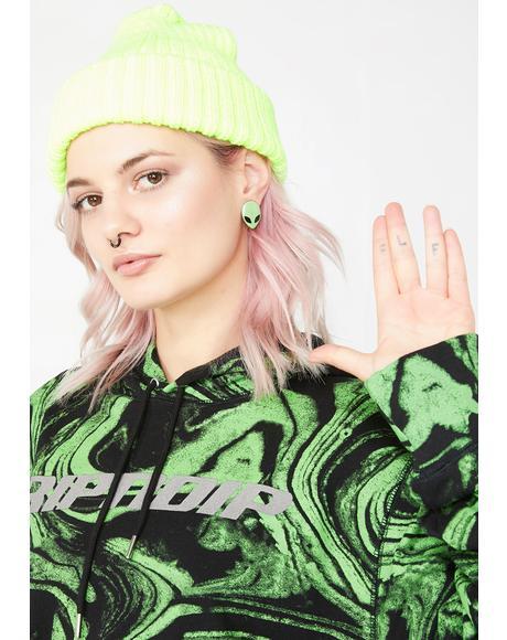 Come In Peace Alien Earrings