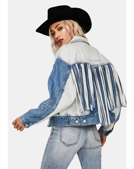 Bonnaroo Denim Fringe Jacket