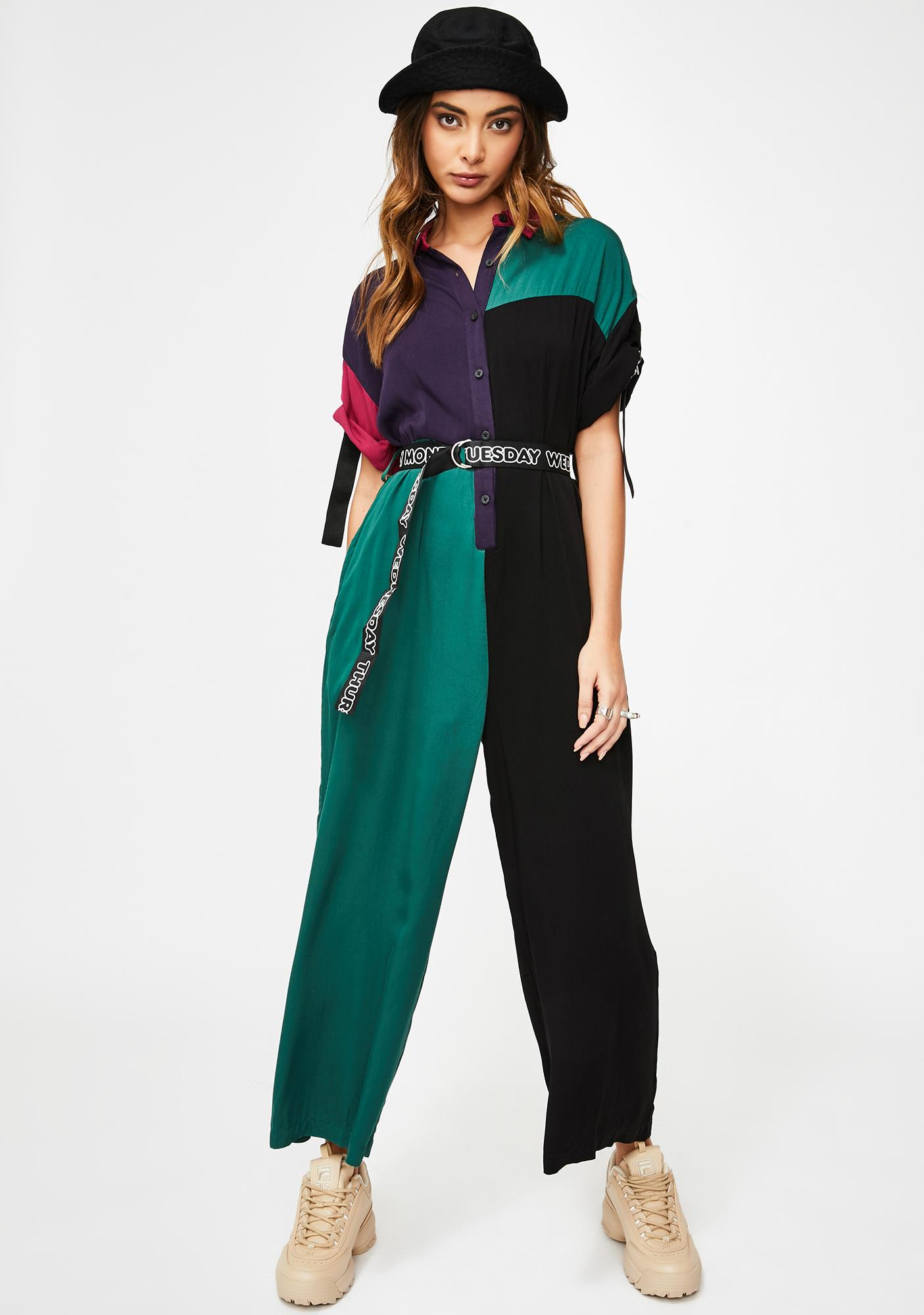 Lazy Oaf Color Block Jumpsuit