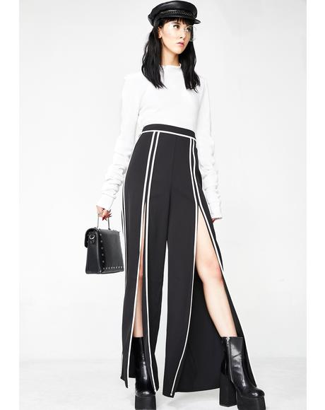 Never Nice Slit Pants