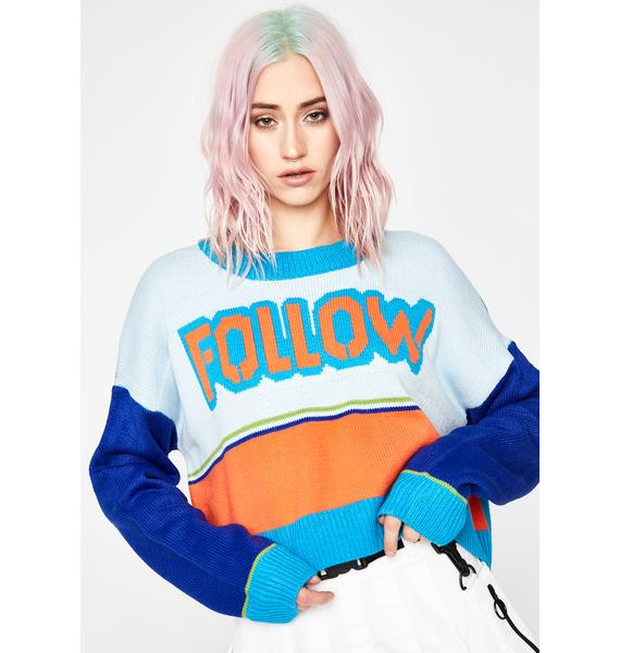 Current Mood Follow The Leader Knit Sweater