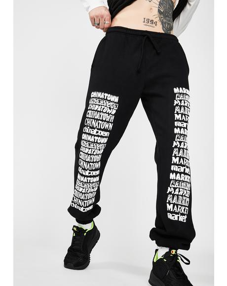Stacked Logo Jogger Sweatpants
