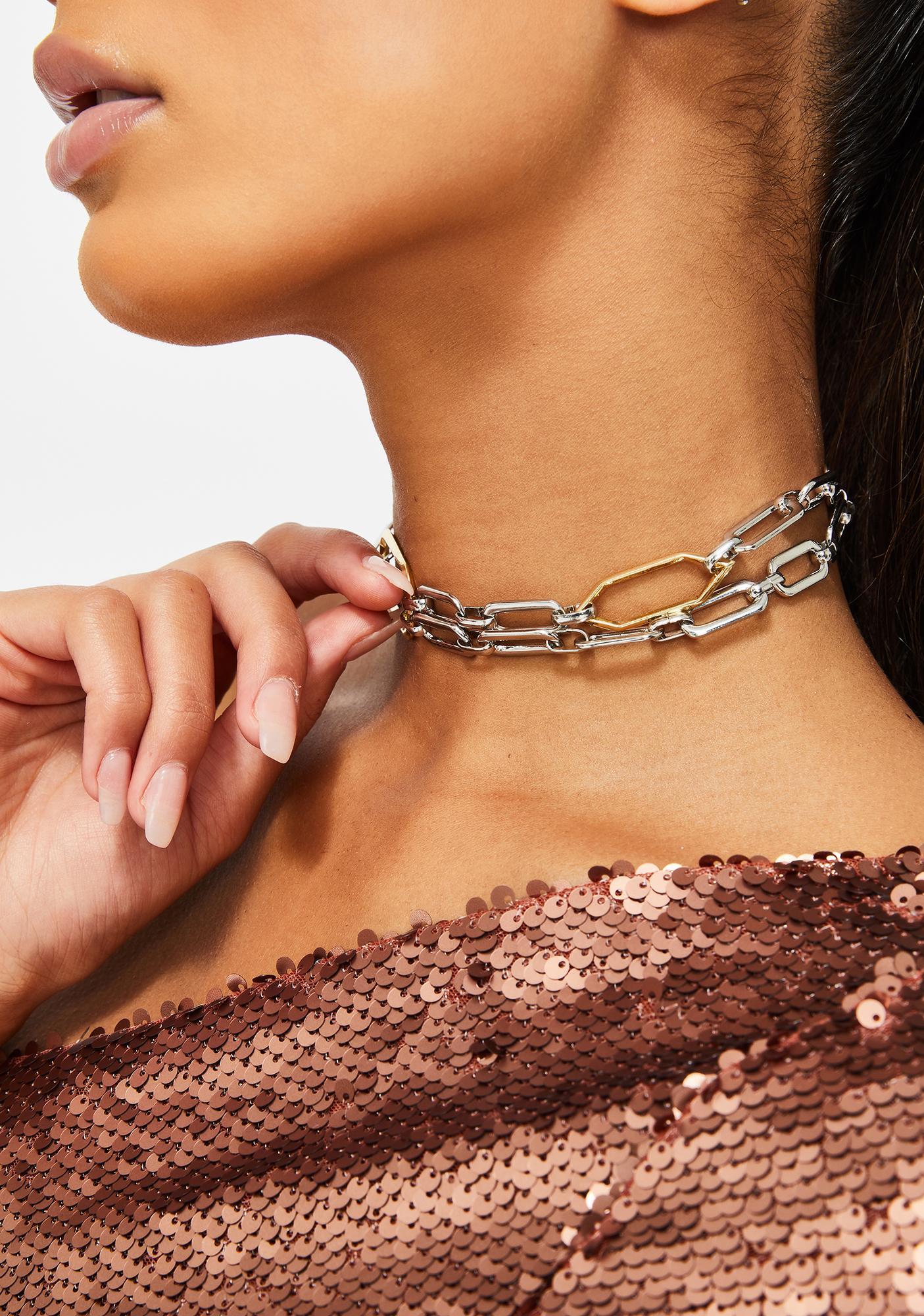 Stuck With Me Chain Choker