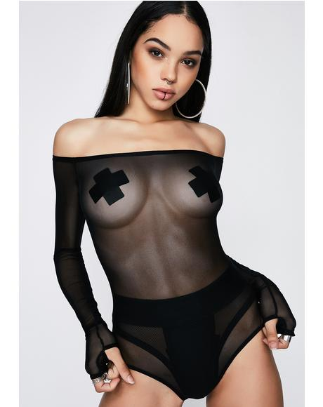 Makin' Moves Off-Shoulder Bodysuit