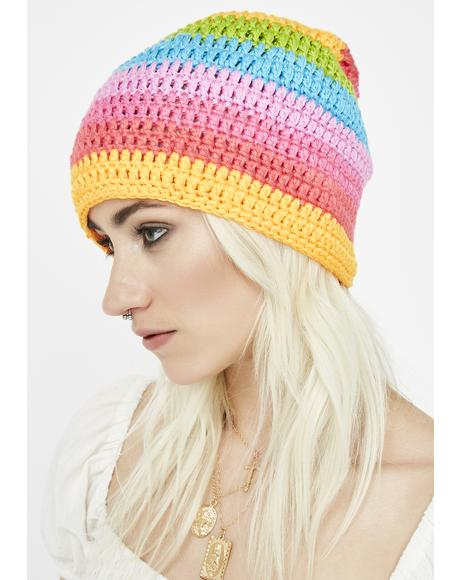 Candy Striper Rainbow Beanie