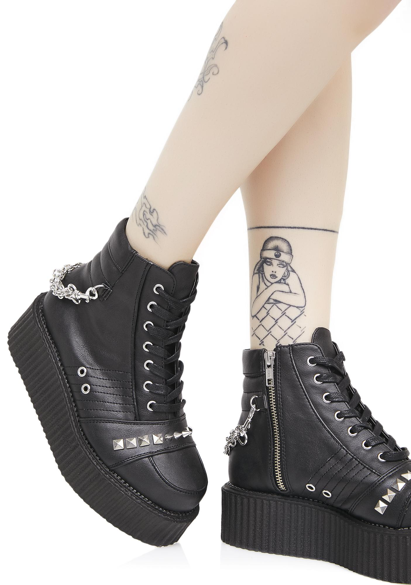 Demonia Whiplash Studded Creepers