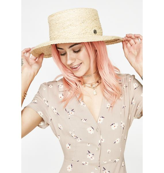 Love In The Garden Straw Hat