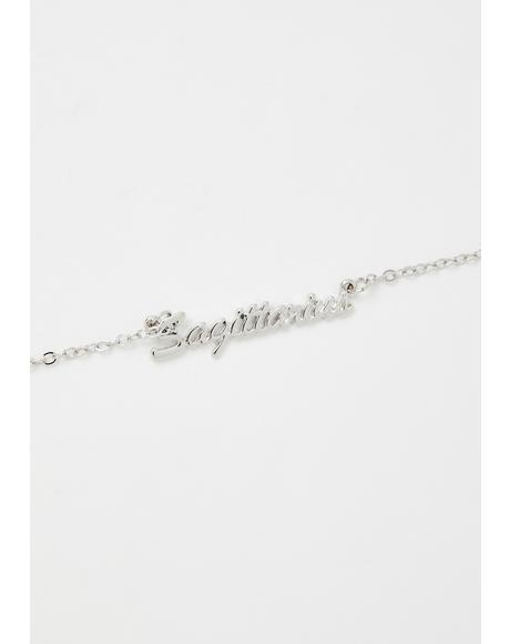So Sagittarius Nameplate Necklace