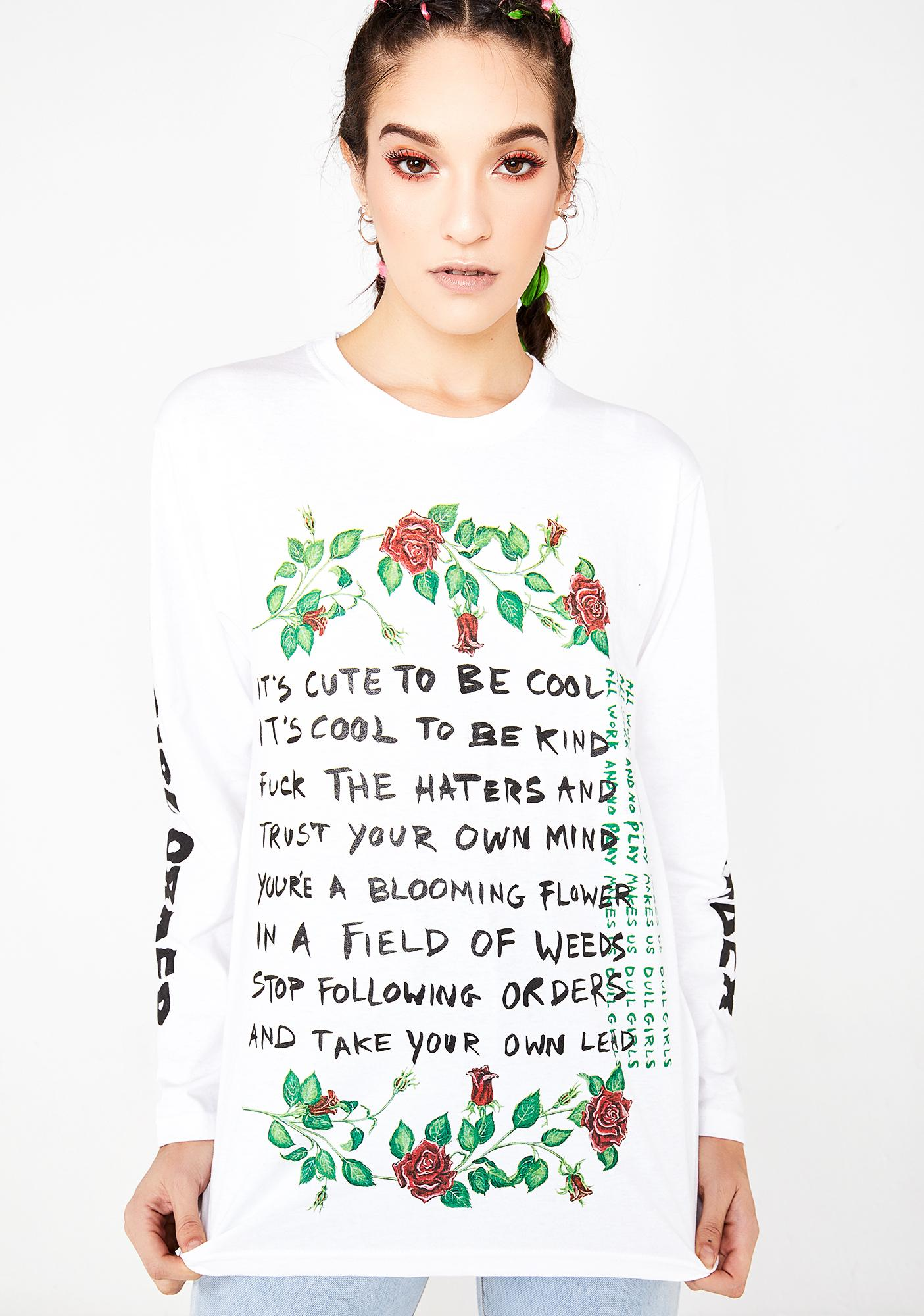 NEW GIRL ORDER It's Cool To Be Cute Slogan Long Sleeve