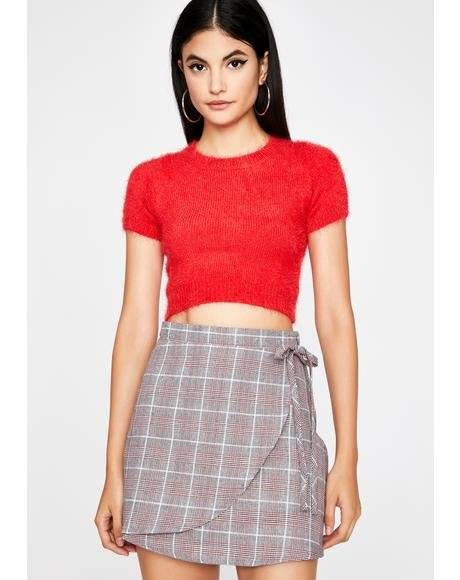 Waistin' Time Plaid Mini Skirt