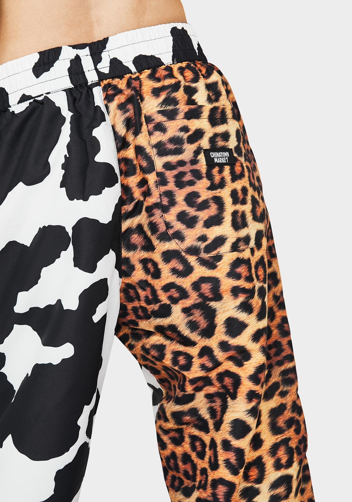 CHINATOWN MARKET All Over Animal Print Pants