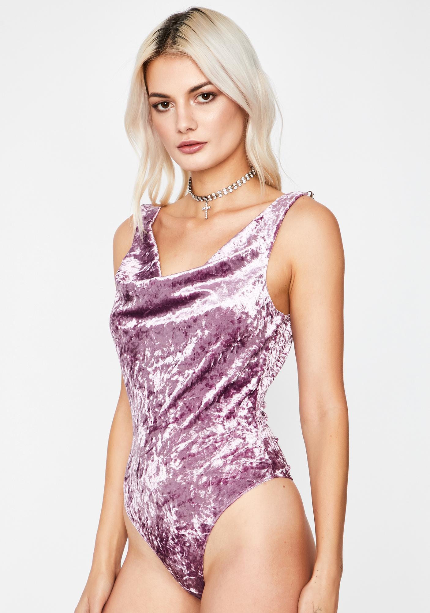 Flirty Fantasy Velvet Bodysuit