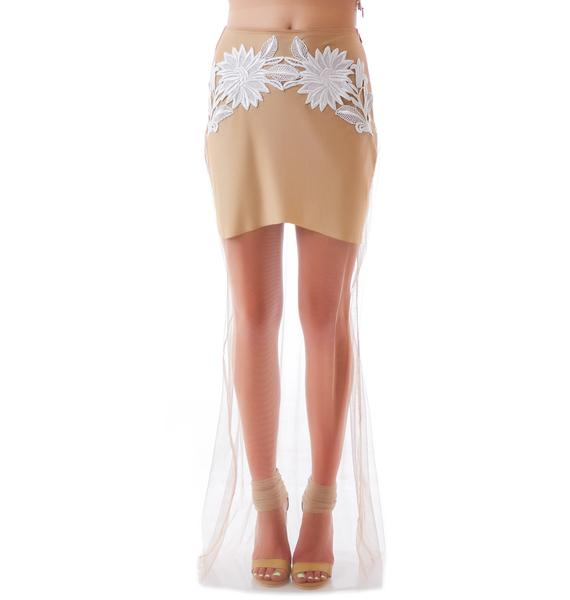 For Love & Lemons Balmy Nights Skirt