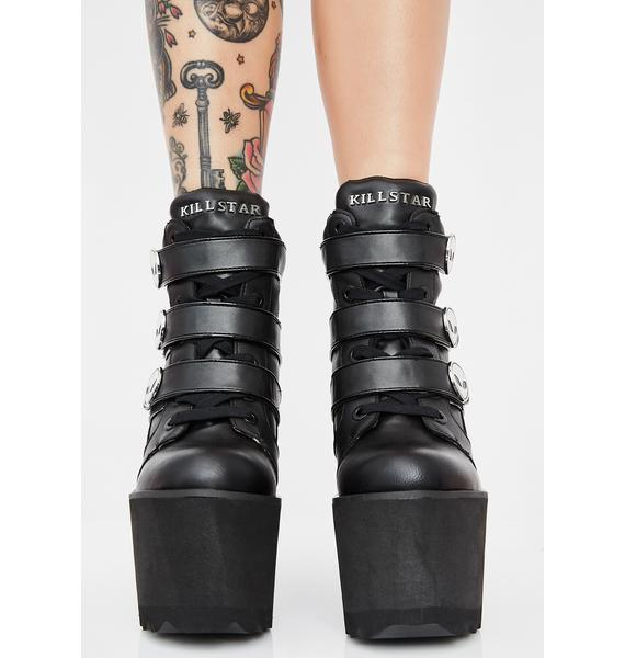 Killstar She's Out There Wedge Boots