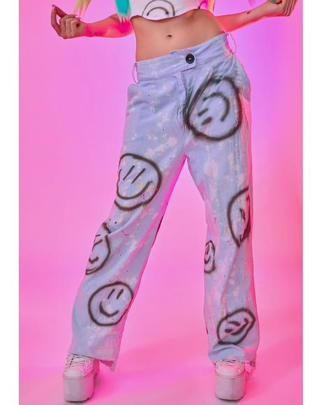 Smiley Denim Jeans